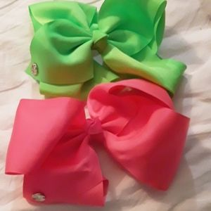 {JOJOSIWA} NWOT Neon Cheer Basic Bow Bundle